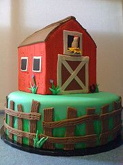 barn cake for kids - Google Search