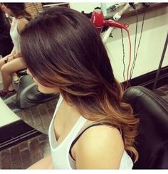 Perfect ombre for dark hair.!