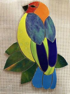 Mosaic Tile Designs, Mosaic Tile Art, Mosaic Crafts, Mosaic Projects, Mosaic Glass, Glass Art, Stained Glass Birds, Stained Glass Patterns, Mosaic Patterns