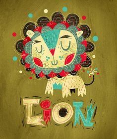 Lion | Illustrator: Alberto+Cerriteño - http://www.albertocerriteno.com