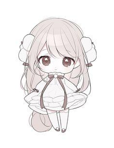 Chibi Manga, Dibujos Anime Chibi, Cute Anime Chibi, Kawaii Chibi, Kawaii Anime Girl, Kawaii Art, Cute Animal Drawings Kawaii, Kawaii Drawings, Cute Drawings