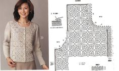 Crochet sweater with diagram #3