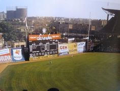 Color shot; rarely seen angle at Ebbets Field, 1957. Speaking of angles, notice the RF fence. Brooklyn #Dodgers