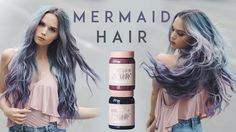 So excited to show you guys how I dyed my hair into the perfect, magical, mermaid color using Limecrime's new Unicorn Hair washout hair dye! Links to product. Unicorn Hair Dye, Lime Crime Hair Dye, Lavender Grey Hair, Ion Hair Colors, Crazy Hair Days, Dye My Hair, Mermaid Hair, Hair Dos