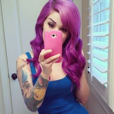 #purple #dyed #hair #pretty