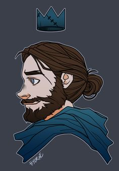 hydrae:trying to learn how to draw beards so i can draw a smol bandit king