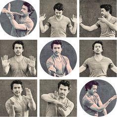 RDJ: Wing Chun poses