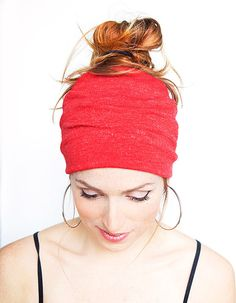 Red Knit Turban Knit Red Headband Stretch Yoga Hair band Red Boho Headband Red Head Wrap Hairband Wide Headband Christmas gift idea on Etsy, $13.64 CAD