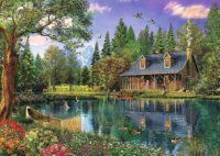 pictures of cartoon dog Picture - More Detailed Picture about Lakeside cabin home decor diy diamond painting full diamond embroidery mosaic pictures of rhinestones landscape wall art Picture in Diamond Painting Cross Stitch from Ocean Diamond Painting The Rainbow Fish, Lakeside Cabin, Mosaic Pictures, Wall Pictures, Nature Pictures, Painting Pictures, Lake Cabins, Mountain Cabins, Mountain View