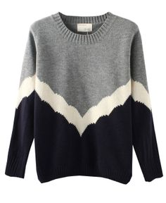 Round Neckline Matching Color Loose Fitting Knitwear