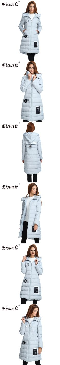 EISWELT Women Parkas Winter Hooded Thicken Coat Jackets women Warm Cotton Padded Ladies Long Wadded Parka Outerwear Tops wc10