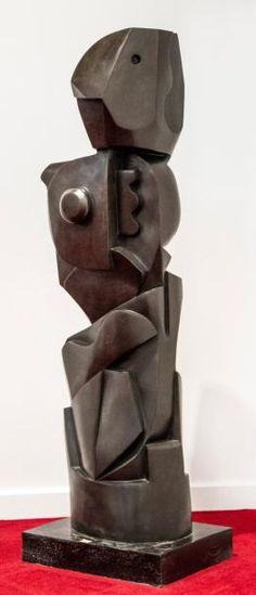 Josef CAPEK (1887-1945)  Robot Bronze; monogramed J.C. 17 on the bottom 14 x 12 x 50 in - 35.5 x 30.5 x 127 cm