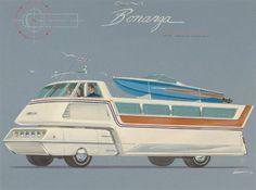 """The """"Bonanza Leisure-Mobile"""" / Richard Arbib / 1972."""