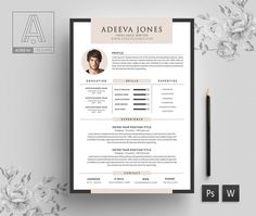 Welcome to the Adeeva Resume! We designed resume template to get you notice! Help you stand out from the crowd and leave a lasting impression when applying for your dream career. We created using elegance with a modern twist and easy to read. Template Cv, Modern Cv Template, Cover Letter Template, Letter Templates, Resume Templates, Cv Simple, Resume Profile, Creative Cv, Microsoft Word 2007