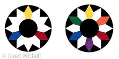 Simple color wheel for quilters.