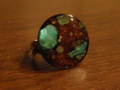 Turquoise and Brown Mother of Pearl Shell Wire by OriginalStiles, $12.00