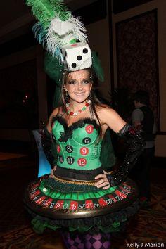 Poker Dealer Halloween Costume Casino Gambler Outfit Adult
