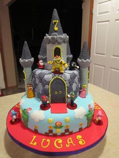 Bowsers Castle Cake. Video Game Cake