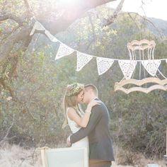 White wedding bunting vintage wedding by BaloolahBunting on Etsy