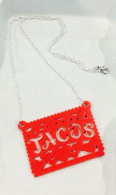 Tacos Papel Picado Necklace #ilaments #jewelry