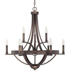 Cavalier Equestrian Buckle 2-Tier Chandelier, I really like this one. $559 - wine cellar - need to see specs