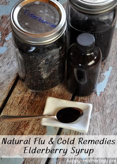 Natural Flu & Cold Remedies: DIY Elderberry Syrup - Crissie Alone Home Allergy Remedies, Flu Remedies, Herbal Remedies, Home Remedies, Holistic Remedies, Health Remedies, Homemade Cold Remedies, Cold Remedies Fast, Natural Cold Remedies