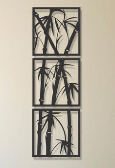 3 Piece Bamboo Tree Metal Wall Art , Modern Metal Wall Decor , Living Room Home Decor , Special Design For New Home Gift , Metal Tree Art Metal Tree Wall Art, Metal Wall Decor, Wall Art Decor, Modern Metal Wall Art, Metal Artwork, Laser Art, Tree Artwork, Bamboo Tree, Rooms Home Decor