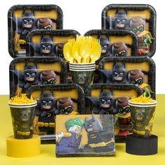 Check out Lego Batman Deluxe Tableware Kit | Lego Batman party supplies from Birthday in a Box from Birthday In A Box