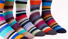 Socks, socks, socks, socks, and more socks.