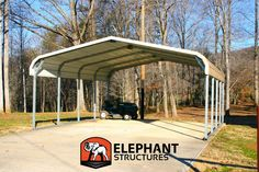 Elephant Structures carports aren't your run-of-the-mill metal sheds. This metal carport is specifically designed with your needs in mind. Eagle Carports, Rv Carports, Metal Carports, Metal Carport Kits, Metal Shed, Metal Barn, Rv Canopy, Canopy Cover