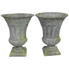 French Style Garden Urn Shaped Planters   A Pair ($249) ❤ Liked On