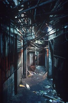 City of Darkness: Life in Kowloon Walled City  The Kowloon Walled City was a singular Hong Kong phenomenon: 33,000 people living in over 300 interconnected high-rise buildings, built without the contributions of a single architect, ungoverned by Hong Kong's safety and health regulations, covering one square city block in a densely populated neighborhood near the end of the runway at Kai Tak airport.