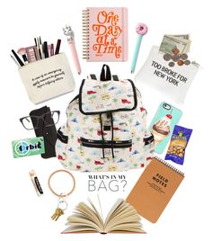 """""""What's In My Bag"""" by youaresofashion ❤ liked on Polyvore featuring MANGO, Casetify, Wet Seal, LeSportsac, ban.do, Chapstick, Prism, backpack and inmybackpack"""