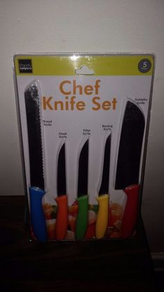 5 Multi-Color Chef Knife set