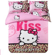 Find More Bedding Sets Information about (Flower Gift) Hello kitty bedding King/queen size bedding sets 4pcs bedspread bed linens hello kitty bed set hello kitty bedding,High Quality Bedding Sets from Dreamy home on Aliexpress.com