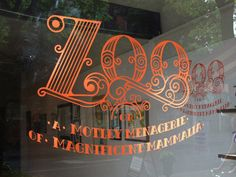 ZOO TYPE... beautiful on the window, signage on shop window, window decals, branding, typography
