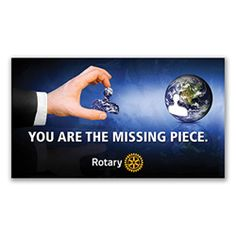 Russell-Hampton Co. Rotary Club Supplies: Pack of 10 You Are The Missing Piece Cards