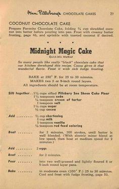 Ann Pillsburg midnight magic cake