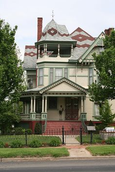 Grayville Mansion (1895) Queen Anne style by George F. Barber