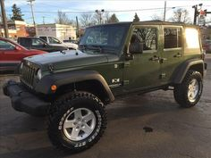 "2008 Jeep Wrangler Unlimited X Lift Kit, 35"" Tires, Local Trade!  $21,850 Cornerstone Premium Motors Inc. 330.482.3115"