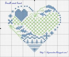 LIVE, LAUGH, LOVE ...: Small sweet heart - схема; free heart cross stitch pattern