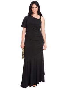 Studio One Shoulder Maxi Dress from eloquii.com