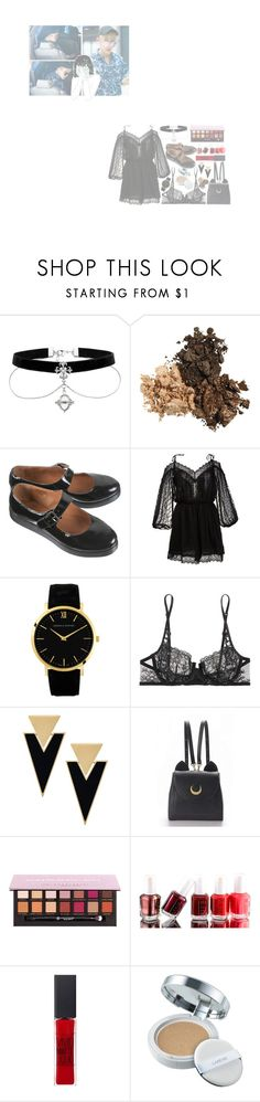 """>27"" by jamlesspotato ❤ liked on Polyvore featuring Zimmermann, La Perla, Yves Saint Laurent, WithChic, Essie, Maybelline, Laneige and GET LOST"