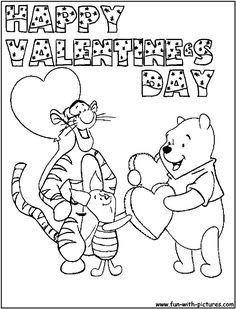 Disney Happy Valentines Day Coloring Pages For Girls
