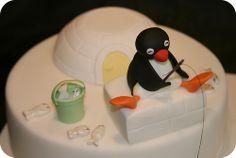 Pingu and Friends Birthday Cake