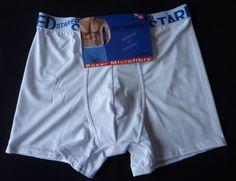 Boxer homme caleçon Blanc slip taille XL (40/42) neuf  Stared
