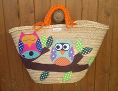 Cesta-capazo patch owls