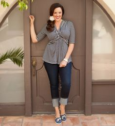 plus size nautical - I would wear this outfit everyday!