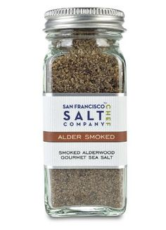 4 Oz Glass Shaker - Alderwood Smoked Sea Salt - http://mygourmetgifts.com/4-oz-glass-shaker-alderwood-smoked-sea-salt/