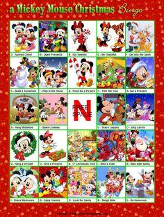 FREE Printable Christmas Bingo - a Mickey Mouse Christmas Bingo